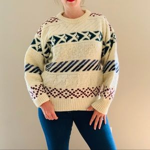 Vintage Oversized Scottish Wool Sweater